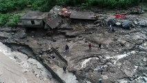 Trabzon karadeniz'de sel ve taşkınlara karşı 'büz' yasağı