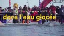 Chine : une course dans l'eau glacée
