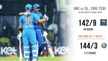 INDvSL   INDIA WON BY 7 WICKETS , GO 1-0 UP IN SERIES