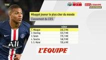 Mbappé est le joueur le plus cher au monde selon l'observatoire du football - Foot - Economie
