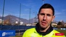 INVITÉ SPORTIF Brice Maubleu, gardien et capitaine du Grenoble Foot 38