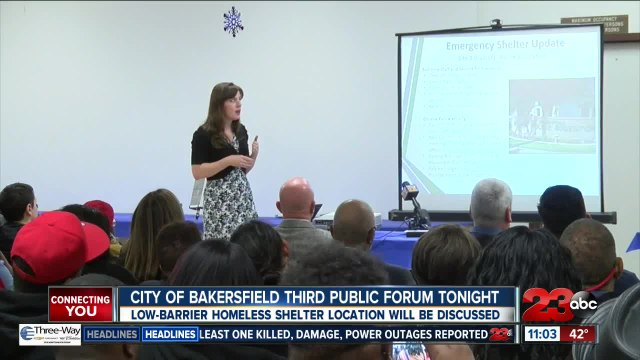 City of Bakersfield holds third public forum on homelessness tonight
