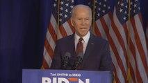 Biden condemns Trump's Iran strike