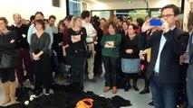 Des avocats jettent leur robe devant leur ministre (Caen)