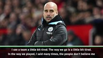 Guardiola feels City have been playing well despite results