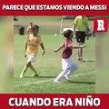 Seguro así jugaba Messi cuando niño