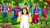 슈퍼히어로 핑거송 영어동요 Finger Family Superheros   Kids Songs and Nursery Rhymes 리콩수콩