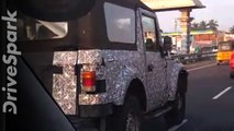 2020 Mahindra Thar Spied Testing: Latest Spy Video