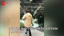 Zincirlikuyu'da AVM'de kafenin çatısı çöktü: Yaralılar var
