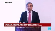 Carlos Ghosn press conference: I was interrogated for up to eight hours a day