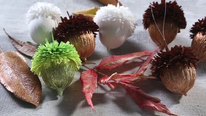 How to Make Paper Acorn Ornaments