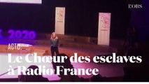 Les vœux de Sibyle Veil, PDG de Radio France, interrompus par le Chœur des esclaves de Verdi