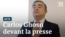 A Beyrouth, Carlos Ghosn s'exprime devant la presse