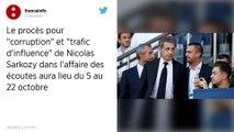 """Affaire des """"écoutes"""": Nicolas Sarkozy sera jugé pour corruption du 5 au 22 octobre"""