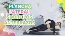 Plancha lateral sobre los antebrazos - Mejor con salud