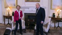 PM and EU Commission President chat inside No.10