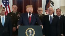 """Crise avec l'Iran : Donald Trump dit souhaiter un nouvel accord sur le nucléaire et """"la paix avec tous ceux qui le souhaitent"""""""