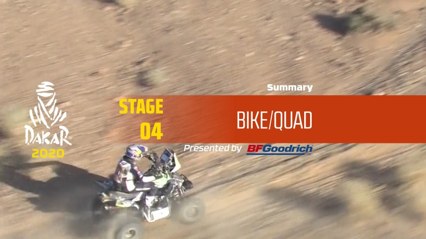 Dakar 2020 - Stage 4 (Neom / Al Ula) - Bike/Quad Summary