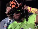Jake The Snake Roberts attacks Randy Savage with a cobra 1994