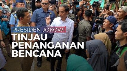 Cerita Presiden Jokowi Mendadak Tinjau Longsor di Banten dan Bogor