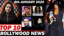 Top 10 Bollywood News - 8th Jan 2020  - JNU, Bigg Boss 13, Deepika Padukone, Akshay Kumar