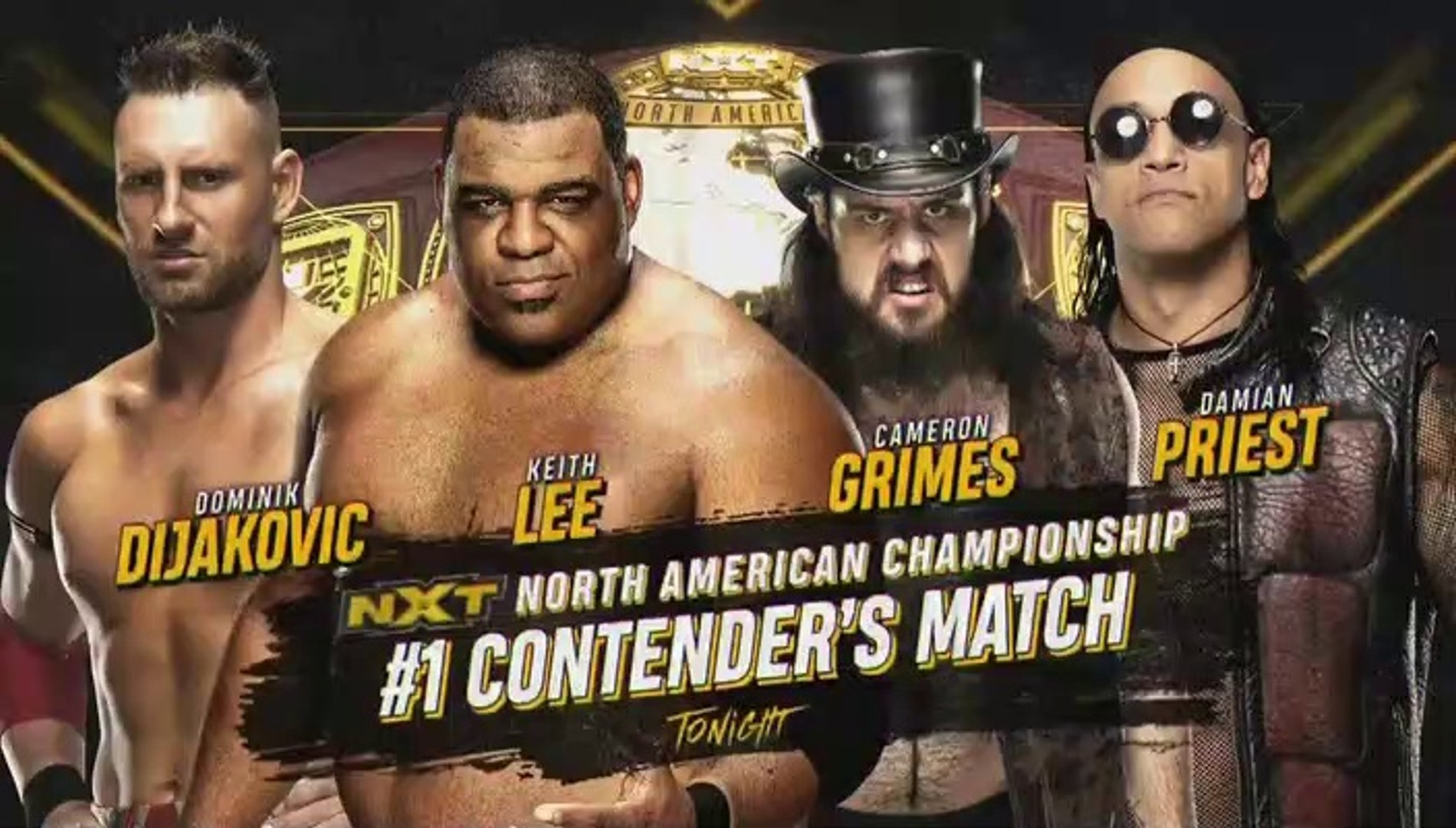 Keith Lee Vs Dominik Dijakovic Vs Cameron Grimes Vs Damian Priest Nxt 08 01 2020 Nxt North American Title 1 Contender Match Video Dailymotion