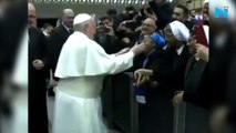 Don't bite: Pope Francis warns nun who asks him for a kiss
