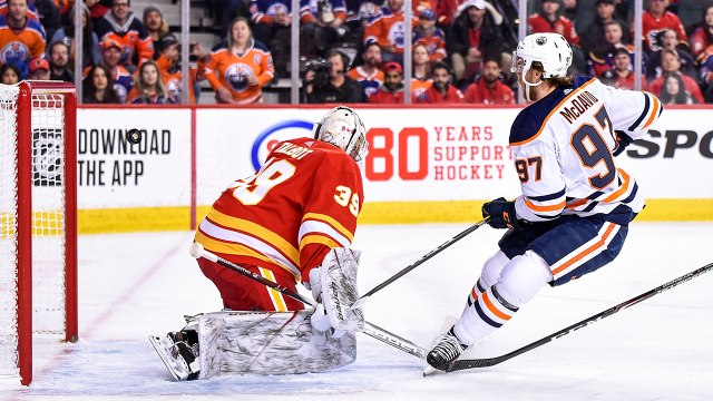 McDavid torches Flames for breakaway goal