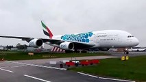 Watch as gigantic Emirates Airbus A380 aircraft touches down in Glasgow