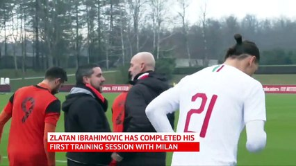 Ibrahimovic scores in first match since Milan return