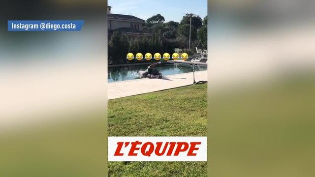 La chute de Diego Costa dans une piscine - Foot - WTF