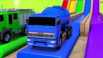 Let's Find Monster Tire - Learn Colors with Street Vehicle and Color Tire Pretend Play for Kids