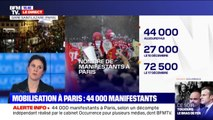 Selon le cabinet Occurrence pour plusieurs médias, 44.000 manifestants ont défilé à Paris