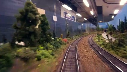 Trains and Scale Modeling - Cab Ride on the largest model railroad in Sweden - Video by Pilentum Television