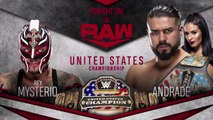 WWE Raw: Andrade vs. Rey Mysterio – Campeonato de los Estados Unidos | Español Latino