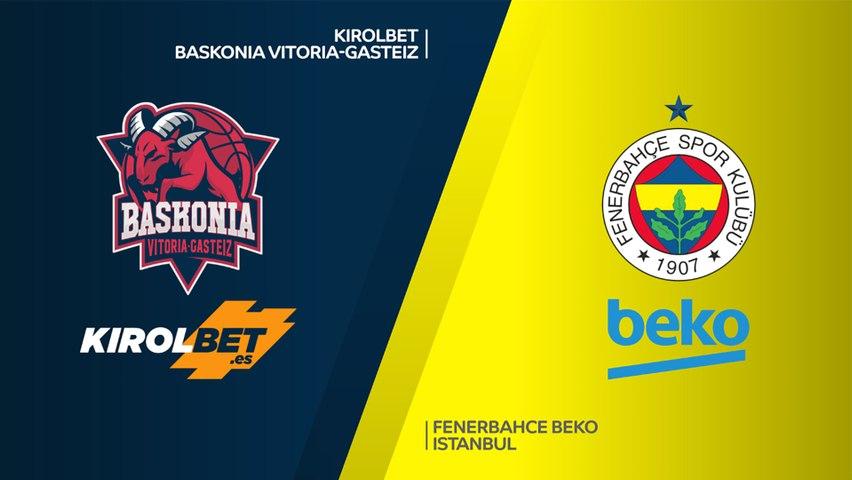 KIROLBET Baskonia Vitoria-Gasteiz - Fenerbahce Beko Istanbul Highlights  EuroLeague, RS Round 18
