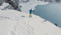 Ski BASE Jumping Onto A Frozen Lake Is As Epic As It Sounds