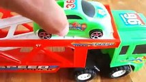 Video for Kids About Plastic Toy Cars Being Carried By Transportation Vehicles