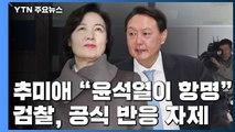 """추미애 """"윤석열이 항명""""...檢, 선거개입 의혹 수사 계속 / YTN"""