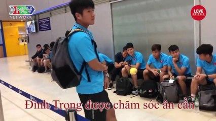U23 Việt Nam và HLV Park Hang Seo MỆT MỎI tại sân bay Thái Lan