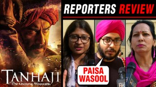Tanhaji REPORTERS Review ⭐⭐⭐ | Ajay Devgn, Kajol | Tanhaji MOVIE REVIEW