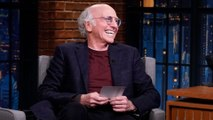 Larry David Reads a Message Left for Him by J.B. Smoove on the Late Night Set
