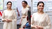 Chhapaak Star Deepika Padukone का Ethnic Look में सिद्धिविनायक Darshan |Boldsky