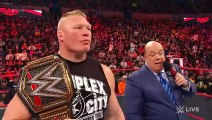 Brock Lesnar to enter at No. 1 in the Royal Rumble Match- Raw, Jan. 6, 2020 - YouTube