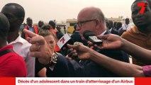 Après le décès survenu dans un train d'atterrissage d'un Airbus ( Air France ) en partance pour Paris ... Le Ministre Ivoirien des Transports donne plus de précisions.