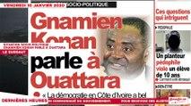 Le Titrologue du 10 janvier 2020: Situation socio-politique, Gnamien Konan parle à Ouattara