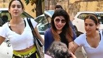 ಸಾರಾ ಅಲಿ ಖಾನ್ ಗೆ ಮುತ್ತುಕೊಡಲು ಬಂದ ಅಭಿಮಾನಿ   Sara Ali Khan   Fan   Filmibeat Kannada