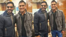 Ajay Devgn met Dhoni and shared picture on instagram