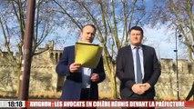 Avignon : les avocats en colère réunis devant la préfecture