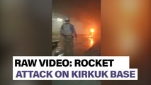 Watch: See troops respond after Kirkuk base hit in December attack